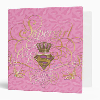 Supergirl Pink Vinyl Binder