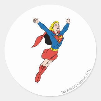 Supergirl Pose 6 Classic Round Sticker
