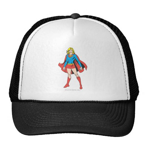 Hat Poses: Supergirl Poses Trucker Hat