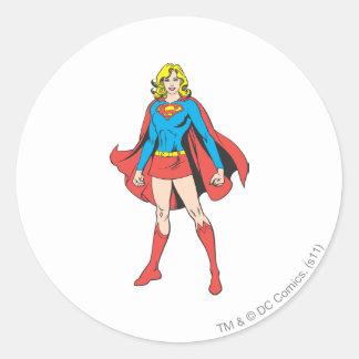 Supergirl Poses Round Sticker