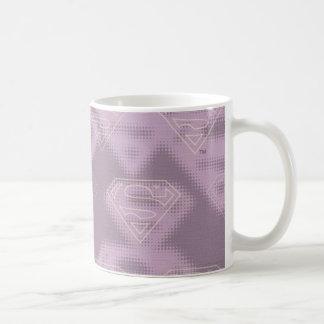 Supergirl Purple Halftone Logo Classic White Coffee Mug