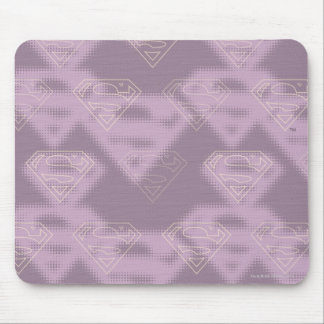 Supergirl Purple Halftone Logo Mouse Pad