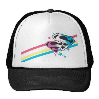 Supergirl Rainbow Stripes Trucker Hat