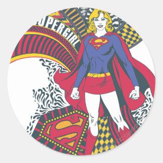 Supergirl Random World 1 Classic Round Sticker