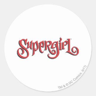 Supergirl Red Logo Round Sticker