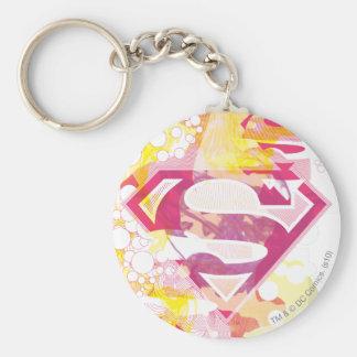 Supergirl Retro Logo Basic Round Button Keychain