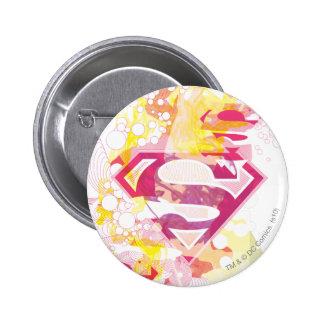 Supergirl Retro Logo Pinback Buttons