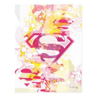 Supergirl Retro Logo Postcard