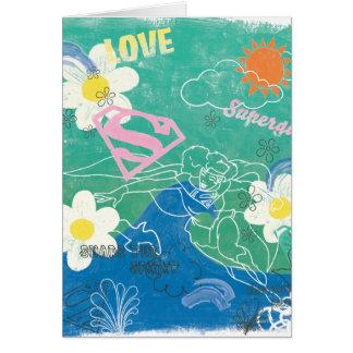Supergirl Share the Spirit & Love Greeting Card