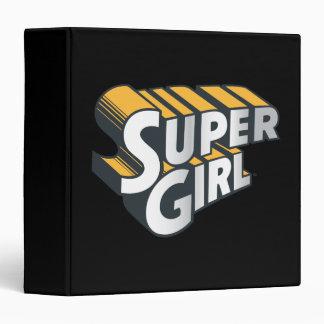 Supergirl Silver and Orange Logo 3 Ring Binders
