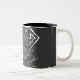 Supergirl Silver Logo Two-Tone Mug