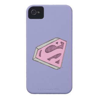 Supergirl Sketched Pink Logo iPhone 4 Covers