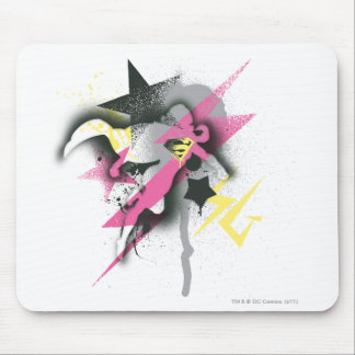 Supergirl Spray Paint Mouse Pad