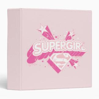Supergirl Stars and Logo Binders