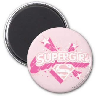 Supergirl Stars and Logo Magnet