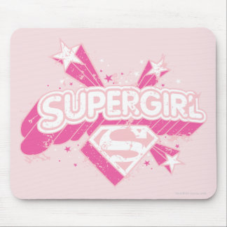 Supergirl Stars and Logo Mouse Pad