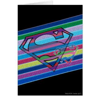 Supergirl Striped Rainbow Logo Card