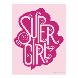 Supergirl Swirl 1 Postcard
