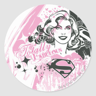 Supergirl Totally Fabulous Round Sticker