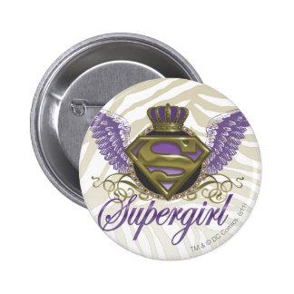 Supergirl Zebra Print Buttons