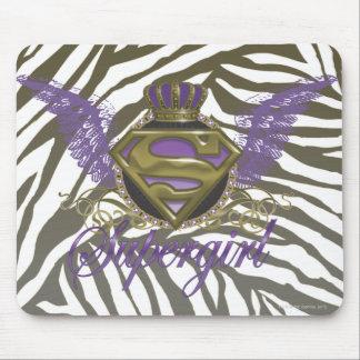 Supergirl Zebra Print Mouse Pad