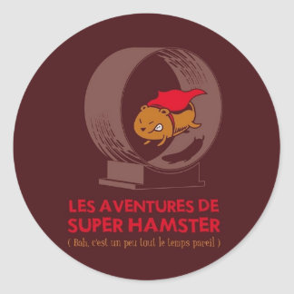 Superhamster Classic Round Sticker