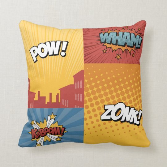 Superhero 4 Square Throw Pillow