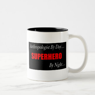 Superhero Anthropologist Two-Tone Coffee Mug