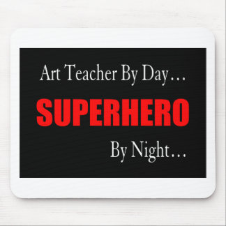 Superhero Art Teacher Mouse Pad