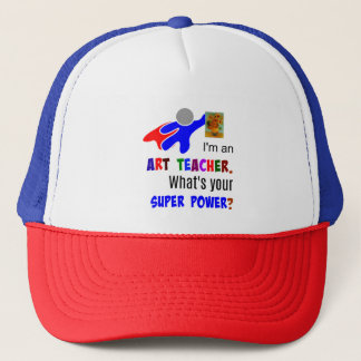 Superhero Art Teacher Trucker Hat