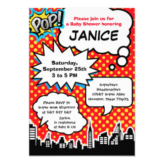 Superhero Baby Shower Party Invitation