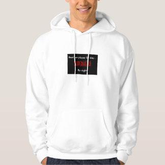 Superhero bari sax player hoodie