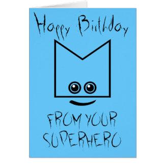 Superhero Birthday Card