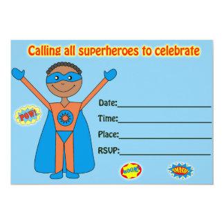 Superhero birthday invitation fill in blank