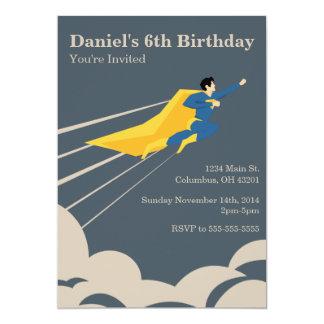 Superhero Birthday Party Invitation