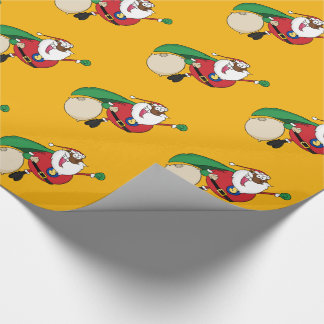Superhero Black Santa Gift Wrapping Paper