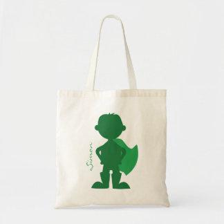 Superhero Boy Silhouette Personalized Green