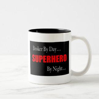 Superhero Broker Two-Tone Coffee Mug