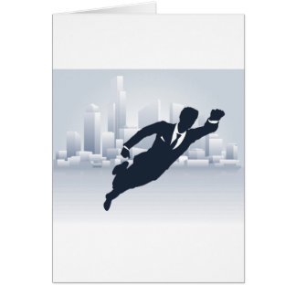 Superhero Business Man Card