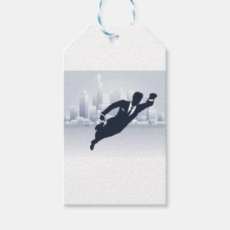 Superhero Business Man Gift Tags