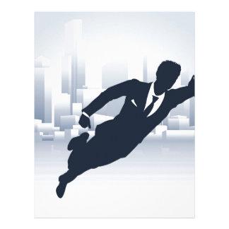 Superhero Business Man Letterhead
