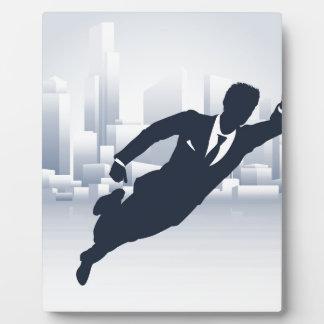 Superhero Business Man Plaque