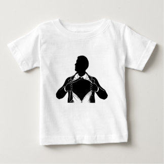Superhero Business Man Tearing Shirt Showing Chest