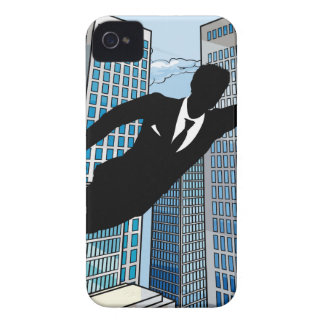 Superhero Businessman iPhone 4 Cover