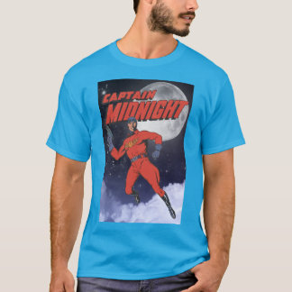 Superhero Captain Midnight on a Full Moon Night T-Shirt