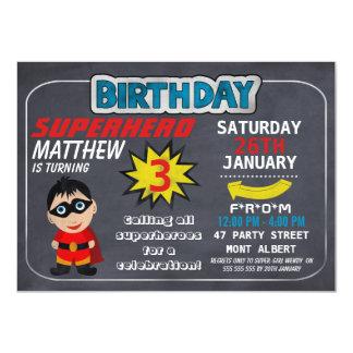 Superhero Chalkboard Birthday Invitation