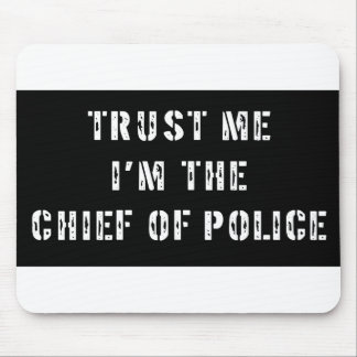 Superhero Chief of Police Mouse Pad