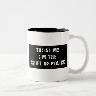 Superhero Chief of Police Two-Tone Coffee Mug