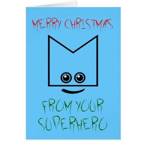 Superhero Christmas Card