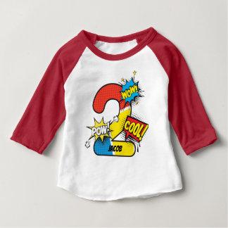 Superhero Comic Book 2nd Birthday Baby T-Shirt